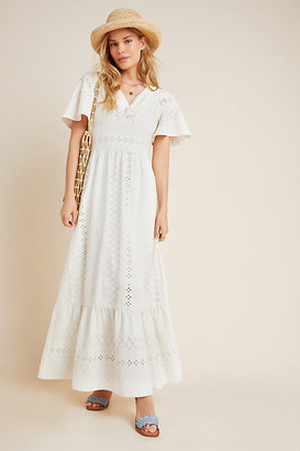 Maeve Rochelle Eyelet Maxi Dress By in White Size XS