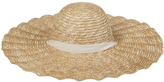 LACK OF COLOR Scalloped Straw Dolce Hat