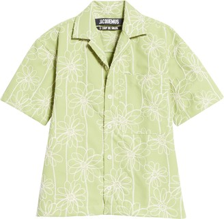 Jacquemus Embroidered Twill Shirt