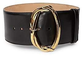 Alexander McQueen Women's Goldtone Wire Buckle Leather Belt