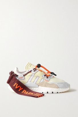 adidas Ivy Park Nite Jogger Canvas-trimmed Ripstop, Neoprene And Suede Sneakers - Cream