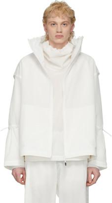 A. A. Spectrum White Cinch Track Jacket