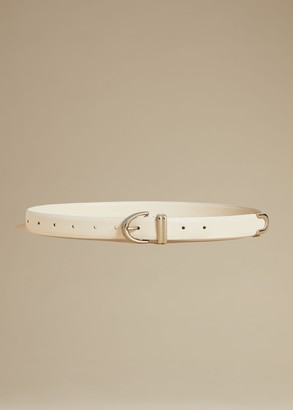 KHAITE The Bambi Belt in Cream with Silver