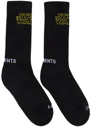 Vetements Black STAR WARS Edition Logo Socks
