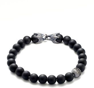 David Yurman Spiritual Bead Bracelet/Onyx & Diamond