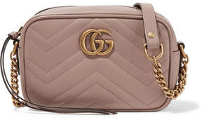Gucci Gg Marmont Camera Mini Quilted Leather Shoulder Bag - Beige