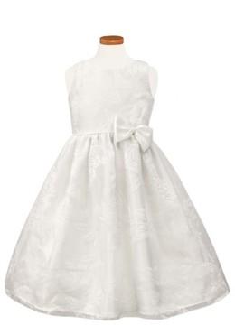 Sorbet Toddler Girl's Floral Burnout Organza Dress