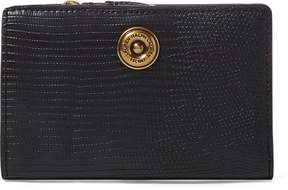 Ralph Lauren Faux-Lizard Compact Wallet