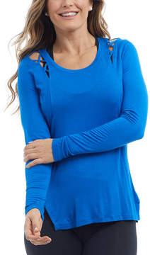 Lapis Blue Strappy Sloan Tee - Women