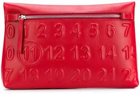 Maison Margiela logo zipped pouch