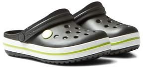 Crocs Graphite/Volt Green Crocband Clogs