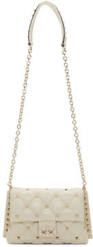 Valentino Off-White Garavani Medium Candystud Clap Bag