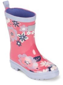 Hatley Baby's, Toddler's & Girl's Winter Blooms Vulcanized Rubber Rain Boots