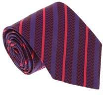 Missoni U4540 Red/blue Repp 100% Silk Tie.