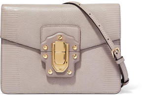 Dolce & Gabbana Lucia Lizard-effect Leather Shoulder Bag - Gray - GRAY - STYLE
