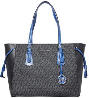 Michael Kors Voyager Medium Signature Tote- Blue/Black - ONE COLOR - STYLE