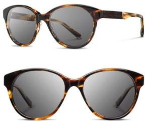 Shwood Women's 'Madison' 54Mm Round Sunglasses - Tortoise/ Ebony/ Grey