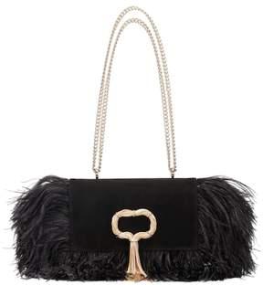 Roger Vivier Club Chain Feathers shoulder bag