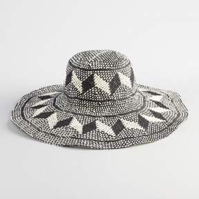 World Market Tan and Black Chevron Sun Hat