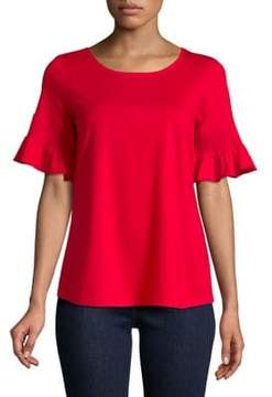 Context Smocked Bell Sleeve Top