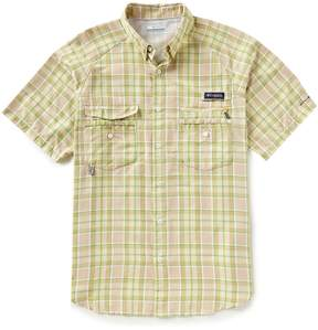 Columbia PFG Super Flycaster Plaid Short-Sleeve Woven Shirt