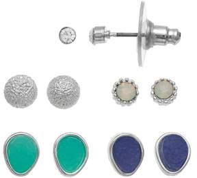 Lauren Conrad Textured Teardrop & Round Nickel Free Earring Set