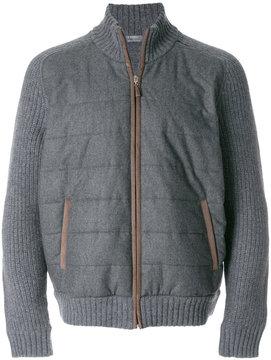 Barba zipped knitted jacket
