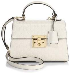 Gucci Padlock Small GG Leather Top-Handle Bag - BLUE SAPPHIRE - STYLE