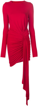 Alexandre Vauthier side tie fitted dress