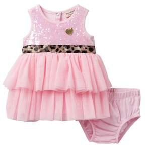 Juicy Couture Sequin Top Dress & Diaper Cover Set (Baby Girls 3-9M)