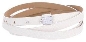 Diane von Furstenberg Embossed Double Wrap Belt