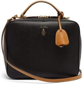Mark Cross Laura Leather Shoulder Bag - Womens - Black Tan