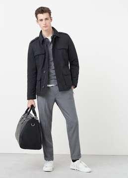 Mango Outlet Nylon field jacket
