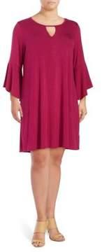 Context Plus Knit Bell-Sleeve Dress