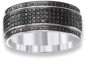 Black Diamond MODERN BRIDE Mens Diamond Accent Stainless Steel Wedding Band
