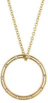 Damiani 18K Diamond Circle Pendant Necklace