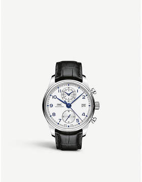 IWC IW390302 Portugieser Chronograph Classic stainless steel and leather chronograph watch
