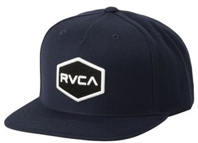 RVCA Men's Commonwealth Snapback Baseball Cap - Black
