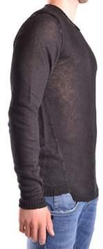 Isabel Benenato Men's Black Linen Sweater.