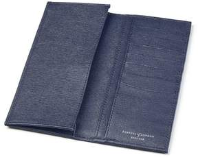 Aspinal of London Slim Breast Pocket Wallet In Navy Saffiano