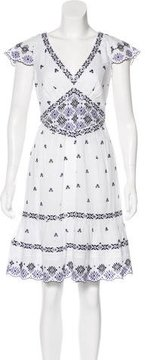 ALICE by Temperley Embroidered Short Sleeve Dress