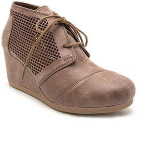 Qupid Light Taupe Ankle Boot - Women