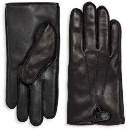 UGG Leather & Faux Fur Gloves