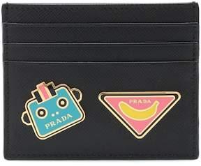 Prada Embellished leather card holder