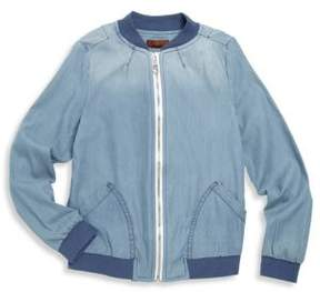 7 For All Mankind Girl's Chambray Bomber Jacket