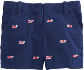Vineyard Vines Girls Embroidered Every Day Shorts