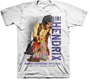 Bravado Jimi Hendrix White Rainbow Guitar Fire Tee - Men's Regular