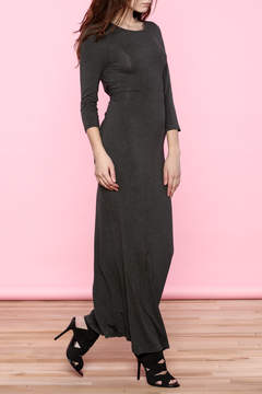 Everly Charcoal Back Knot Maxi