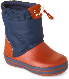 Crocs Kids Boys) Navy & Red Crocband Lodgepoint Boots