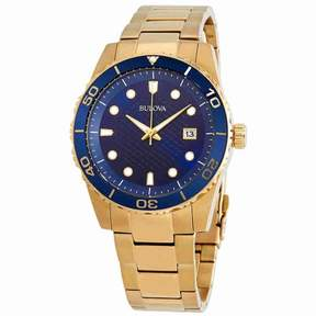 Bulova Sport Blue Dial Yellow Gold-tone Men's Watch 98A197